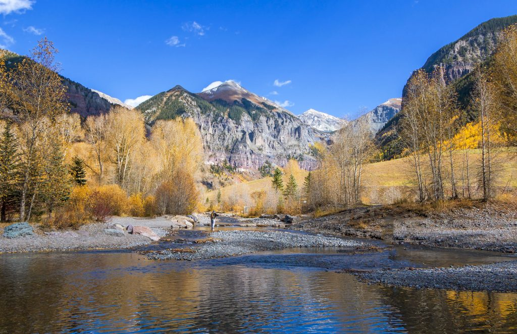 Fly Fish in Telluride, CO when you rent your luxury cabin or condo from SilverStar Telluride
